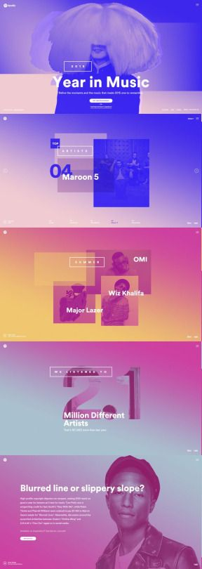 Color / Duotone / Photo Integration / Grid /// How Web Design
