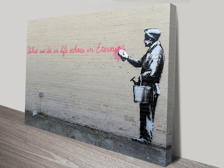 What We Do In Life By Banksy Wall Art