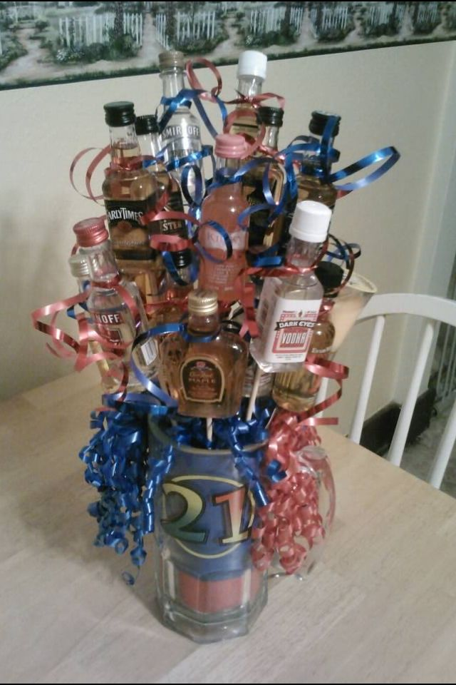 how to make a man bouquet alcohol