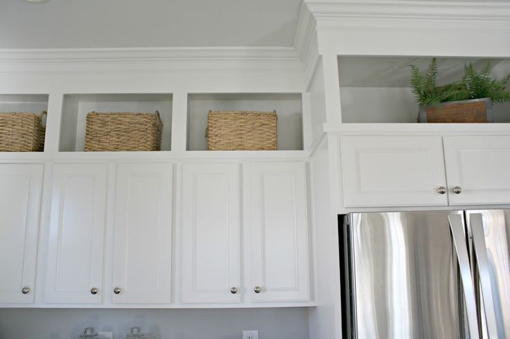 kitchen cabinets above existing cabinets added