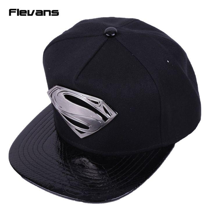 Superman Black Cap //Price: $17.00 & FREE Shipping //     #superheroez #superheroes #marvel #dccomics