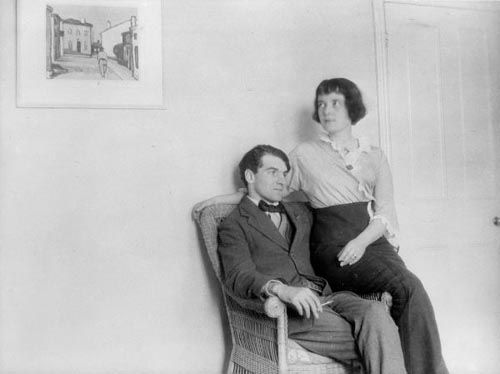 Katherine Mansfield and John Middleton Murry at home, 1913