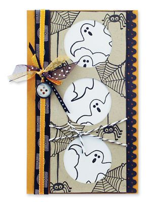 ghostly windows card halloween - Handmade Halloween Cards Pinterest