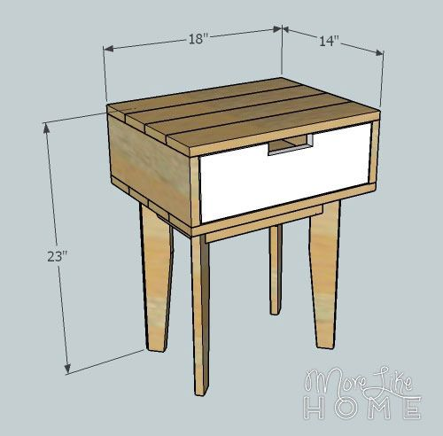 Reclaimed wood nightstand plans woodworking projects plans for Nightstand plans