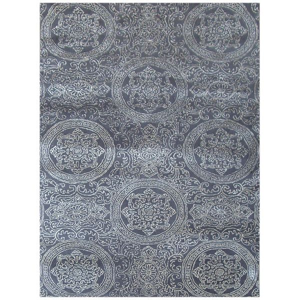 Ručně tkaný koberec Ring, 140x200 cm, šedý