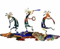 Dance of the Kokopellis Metal Wall Sculpture