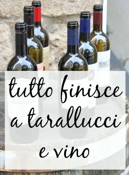 Tutto finisce a tarallucci e vino It means literally: Everything ends at biscuits + wine Figuratively: Everything is going to be alright.