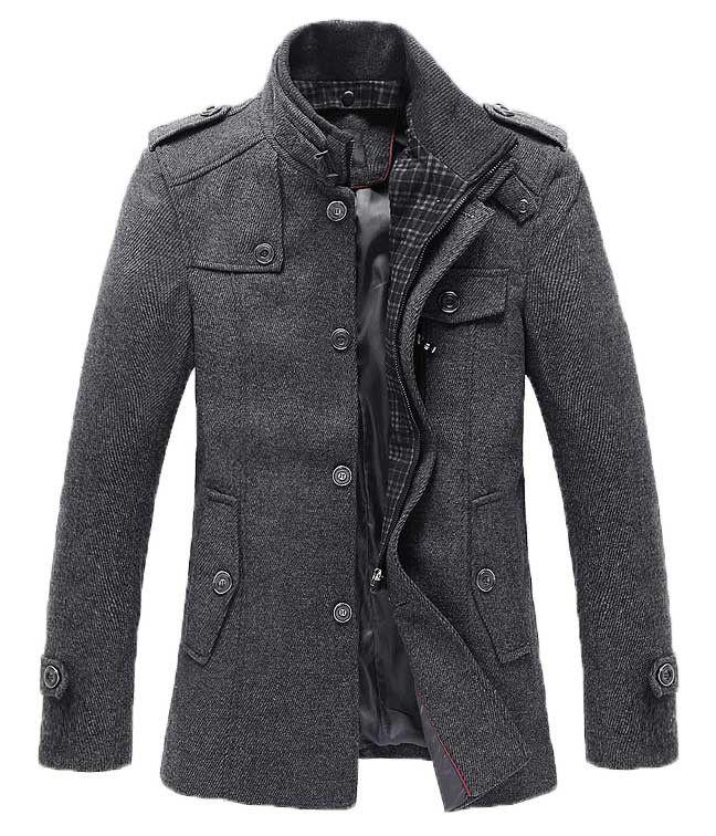 Men's Winter Style-The Ellis Mandarin #Short #Trench #Charcoal