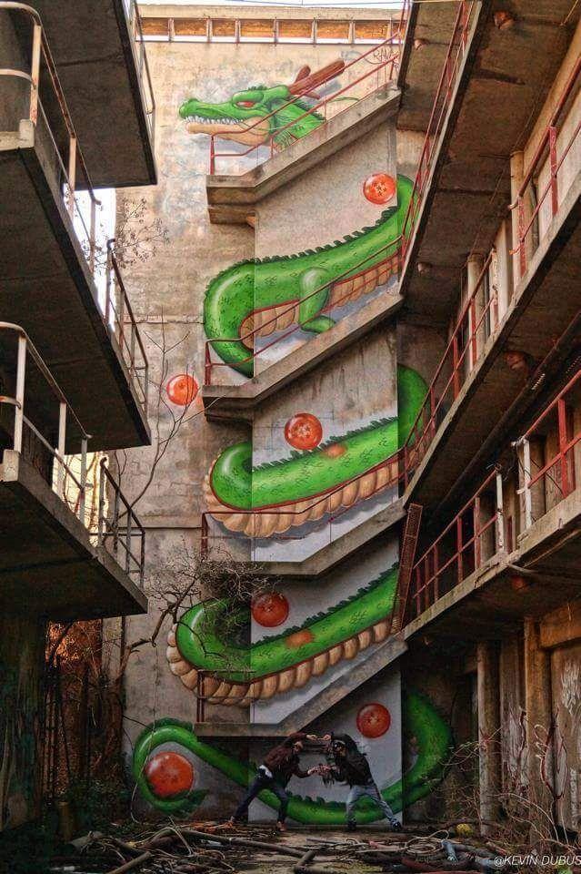 Shenron. Coolest graffiti ever. - Imgur