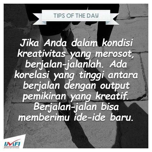 Jangan malas untuk berjalan ;D #tips #tipsoftheday #kreatif #indomobilfinance