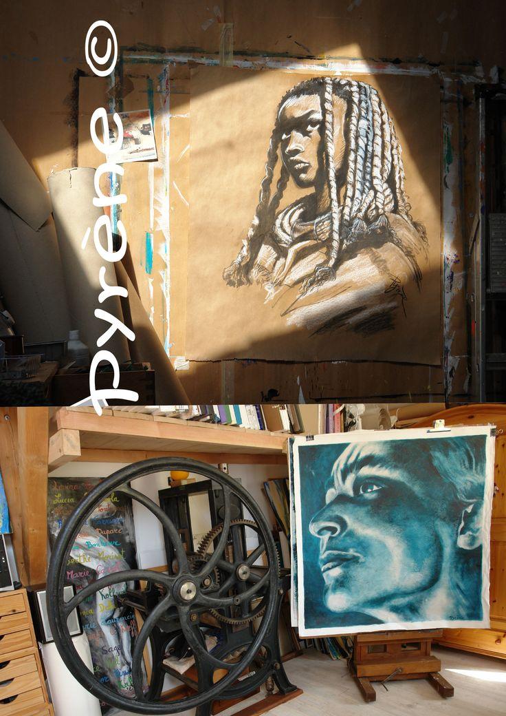 https://fr.pinterest.com/joifcuba/   &  Studio of Pyrène Presse taille-douce et Gorgia O'keeffe             https://www.youtube.com/watch?v=FTpKwIZv7So