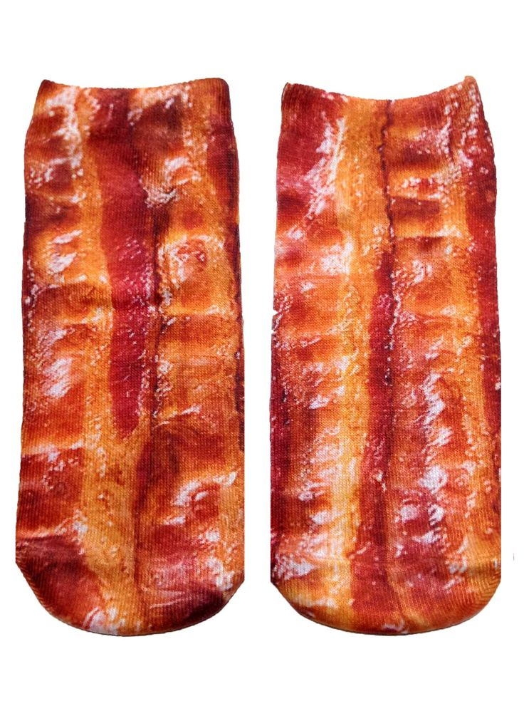 """This sock is for all the bacon lovers out there. *Unisex *100% polyester *Made in the USA *One Size fits most * 7.5"""" L x 3"""" W"""