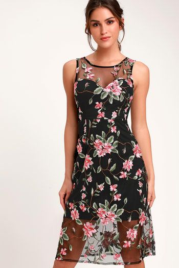 32b1aaa6be55 Women's Print Dresses - Floral Dresses, Plaid Dresses | Lulus.com ...