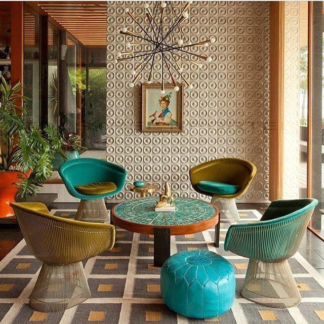 Some Sunday retro interior inspiration for you. #interiordesign #interiors #interiorstyling #retrodecor #retro