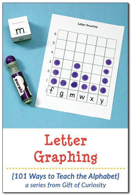 Free printable Letter Graphing activity to help children work on letter recognition, letter formation, and early math skills in the form of graphing. Two different dice options and two different letter graphing options included in the download. || Gift of Curiosity