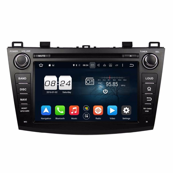 """2GB RAM 8"""" Android 6.0 Octa Core Car Radio dvd Player for Mazda 3 2009 2010 2011 2012 With GPS Bluetooth 4G WIFI TV USB DVR"""