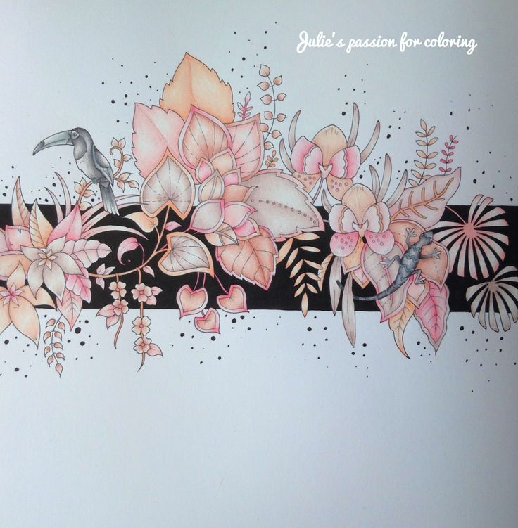 Magical jungle by Johanna Basford Colored by Julie's passion for coloring