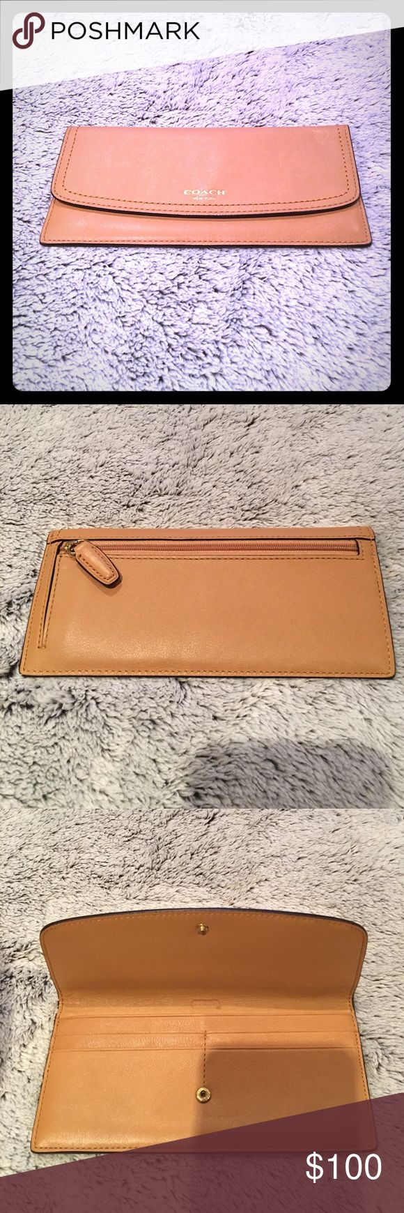 Coach Legacy Envelope Wallet Coach Legacy Envelope Wallet in Light Tan • Only Used twice so it's in perfect condition Coach Bags Wallets