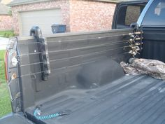 DIY Truck Bed Fishing Rod Holder | Step-by-step instructions to do it yourself at MountainstoMarsh.com