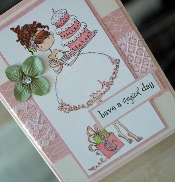 Birthday Girl handmade card by ReverieDesignsCanada on Etsy, $7.00