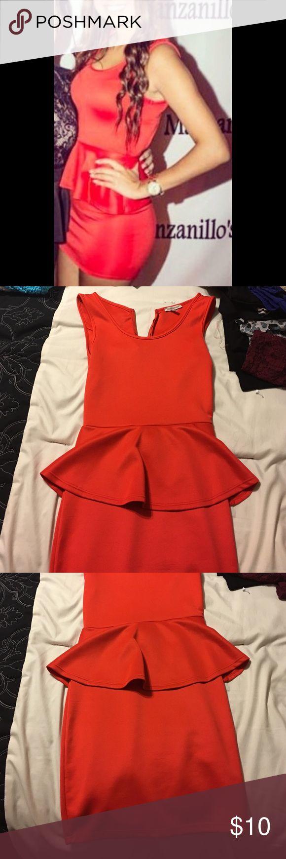Orange Dress Orange tight shirt dress. Worn once. Size Small. From Charlotte Russe Charlotte Russe Dresses Mini