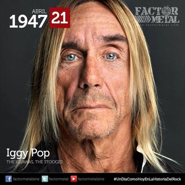 #UnDíaComoHoyEnLaHistoriaDelRock nace en 1947 Iggy Pop músico y actor estadounidense considerado uno de los más innovadores aportando en la creación de nuevos géneros dentro del rock tales como el punk rock el post-punk la new wave y el heavy metal entre otros se ha convertido en un ícono que ha influenciado a músicos desde el inicio de los años 70 hasta la actualidad. #FactorMetal