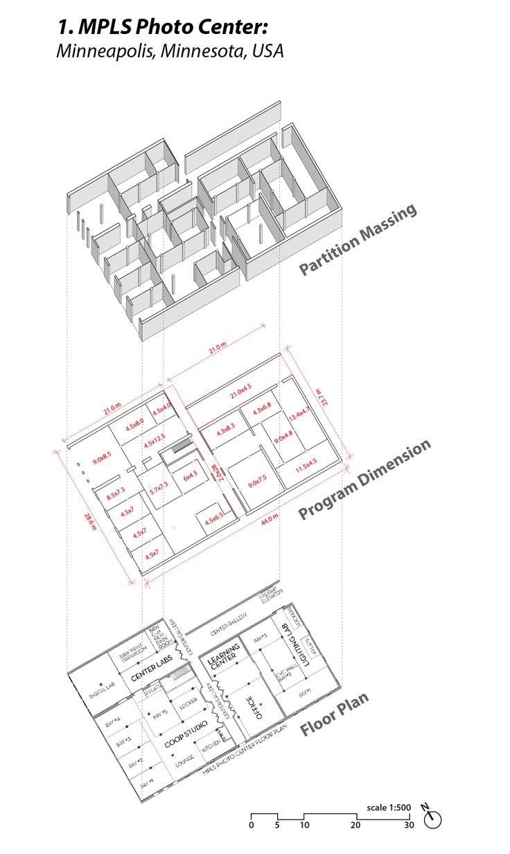 Floor Plan Layout And Dimensions Of The MLPS Photo Center