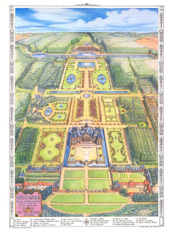 The Chteau de VauxleVicomte lovely handdrawn map  Travel Adventures  Map How to draw