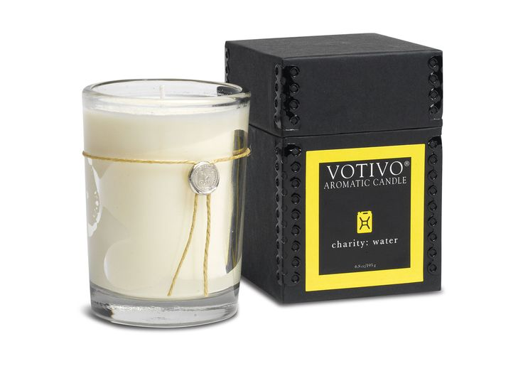This charity: water Special Edition candle from Votivo has a fragrance that is inspired by clean water. Votivo's commitment to detail is revealed in their reputation for creating uniquely captivating fragrances and housing their collections in distinctive packaging.