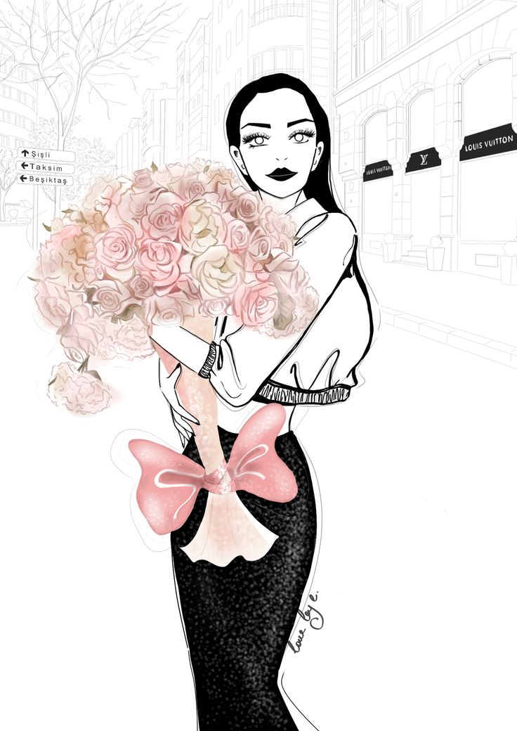 LOVE BY E | Nişantaşı Louis Vuitton Illustration, with love, by E.   #istanbulinstyle #nişantaşı #istanbul #istanbullife #istanbuldayasam #citygirl #citylife #flowers #pink #stylish #chic #illustration #illustrator #fashionillustration #fashion #style #romance #louisvuitton #şehir #çiçek #çizim #tasarım #moda #illüstrasyon #sanat #sanatçı #artist #artwork#art #glam #glitter #louisvuitton