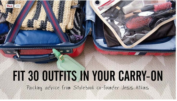 How to take 30 outfits when you travel in a carry-on