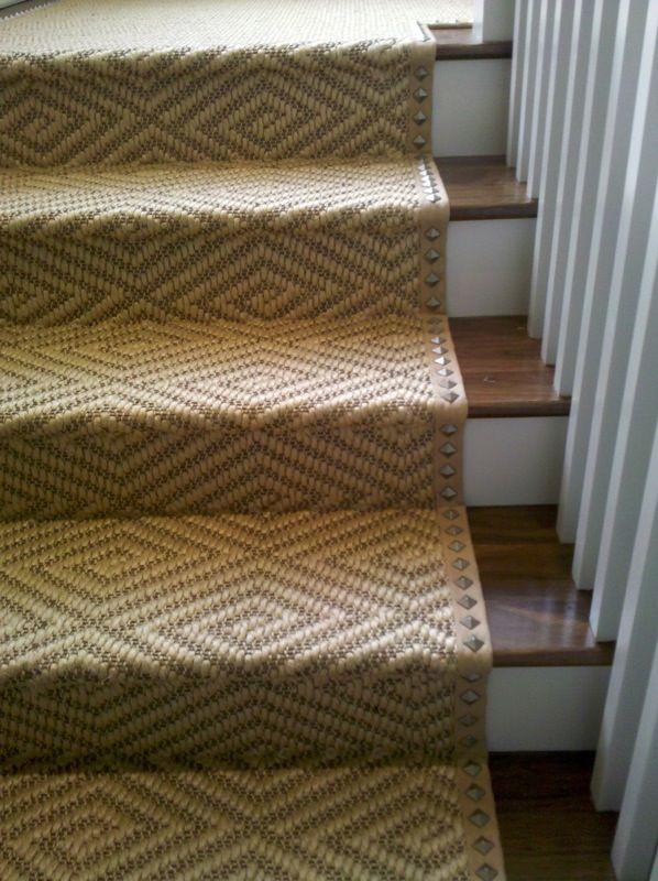 nail head stair runner trim