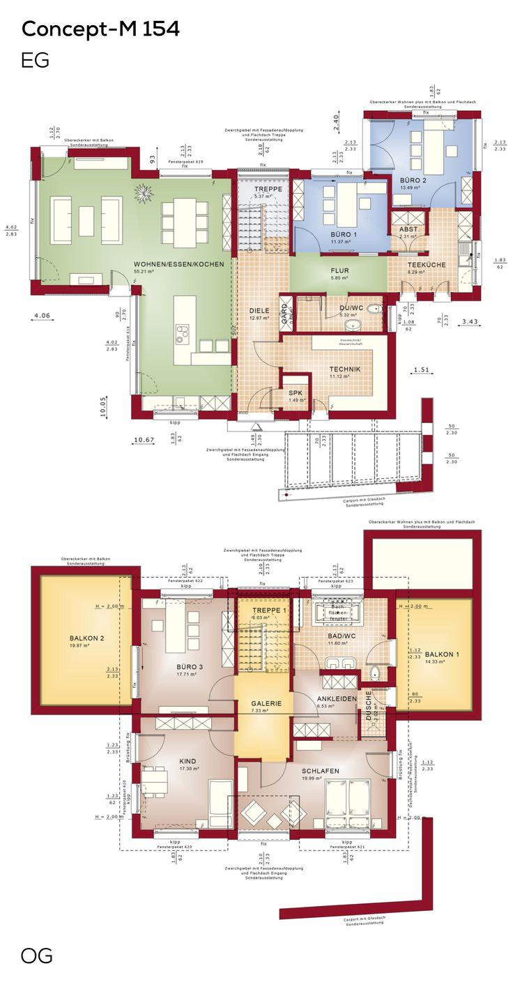 Die besten 25 anbau obergeschoss ideen auf pinterest for Einfamilienhaus mit flachdachanbau