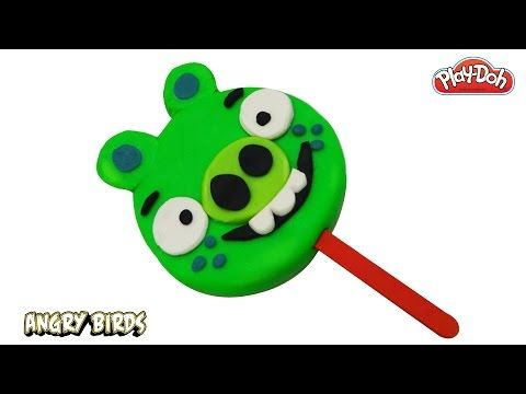 Play Doh How to Make a Big Angry Birds Ice Cream Popsicle DIY!