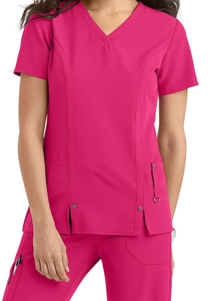 9ca8c9c4402 Dickies Medical Scrubs Xtreme Stretch Hot Pink Scrub Top Sz XS-XXL NWT  #DickiesXtremeStretch