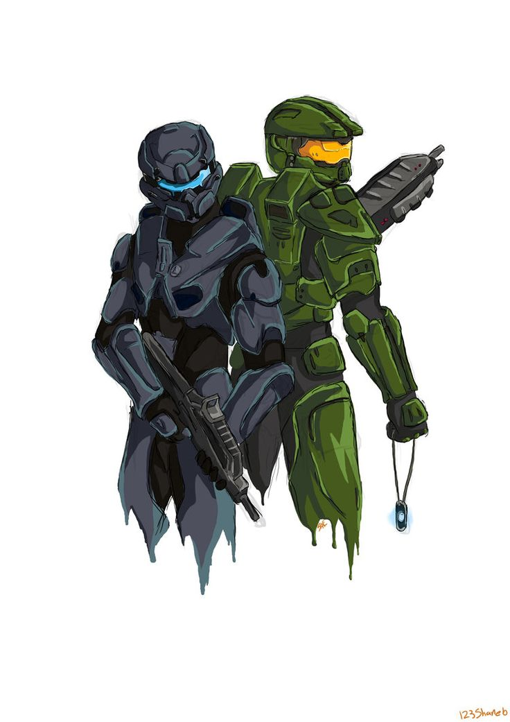 Halo 5!!! The new soldier on the left is a black man.( LOLZ )