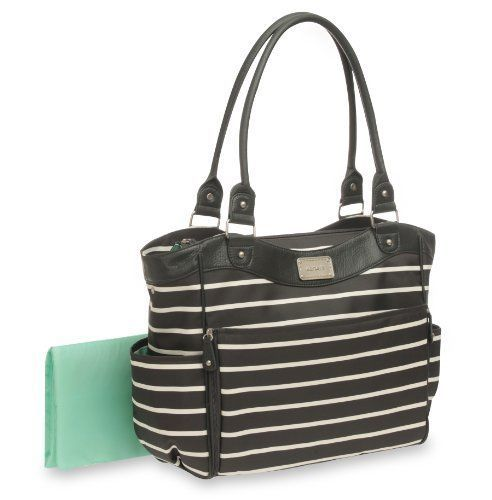 Fashion Diaper Bag Front Stripe 8 Organizer Pockets Changing Pad Bottle Holders  #Carters