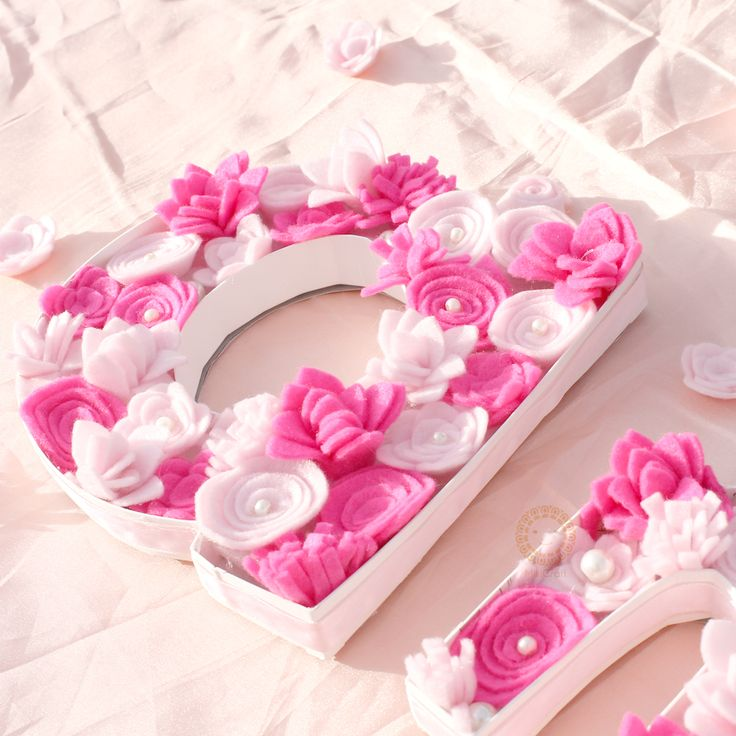 3D flower box_letter A