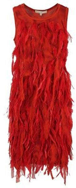 MICHAEL KORS THE  GATSBY Michael Kors Dress: Feathers Chiffon, Kors Red, Red Bridesmaid, Red Michael, Dresses Red, Dresses 6 995, Kors Feathers, Chiffon Dresses, Michael Kors Dresses