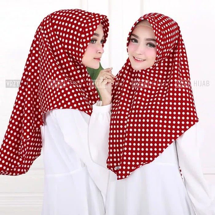 Hijab Minipad Middle Polka Hijab Khimar Minipad Antem Dengan Motif Polkadot Berukuran Middle Sedang Praktis Langsung Slup Dan Unik Model Pakaian Hijab Cocok