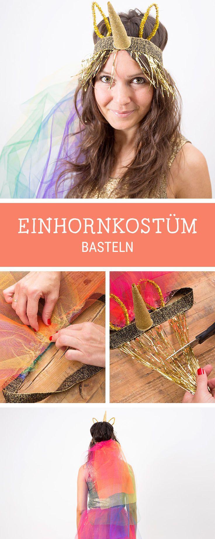 Kostüme für Erwachsene: Buntes Einhornkostüm für Fasching und Karneval / unicorn carnival costume, also for adults via DaWanda.com