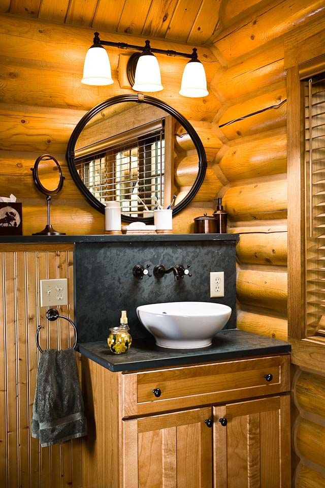 Bathroom Ideas Log Homes 3525 best log cabins/mountain cabins/log homes images on pinterest