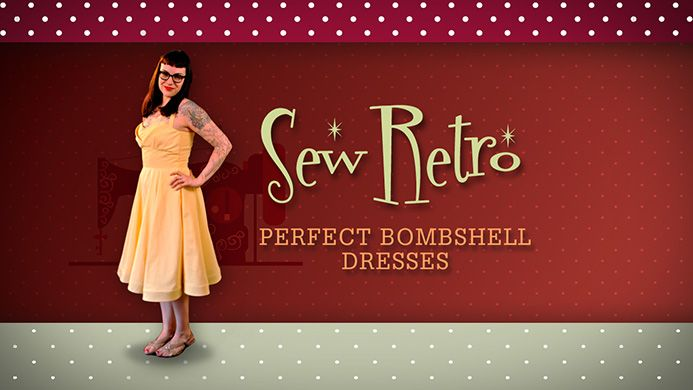 I like Gertie's blog and she teaches this online class for about $20 to make myself a classic bombshell dress!