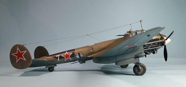 """Пе-2 """"Забияка"""" 40 БАП ВВС Черноморского флота — Каропка.ру — стендовые модели, военная миниатюра"""