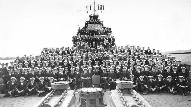 HMAS Perth's ship's company in Fremantle, August 1941.Photo: Royal Australian Navy