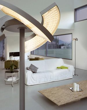 Lamp With Rotating Led Illuminated Panels Oligo 1.