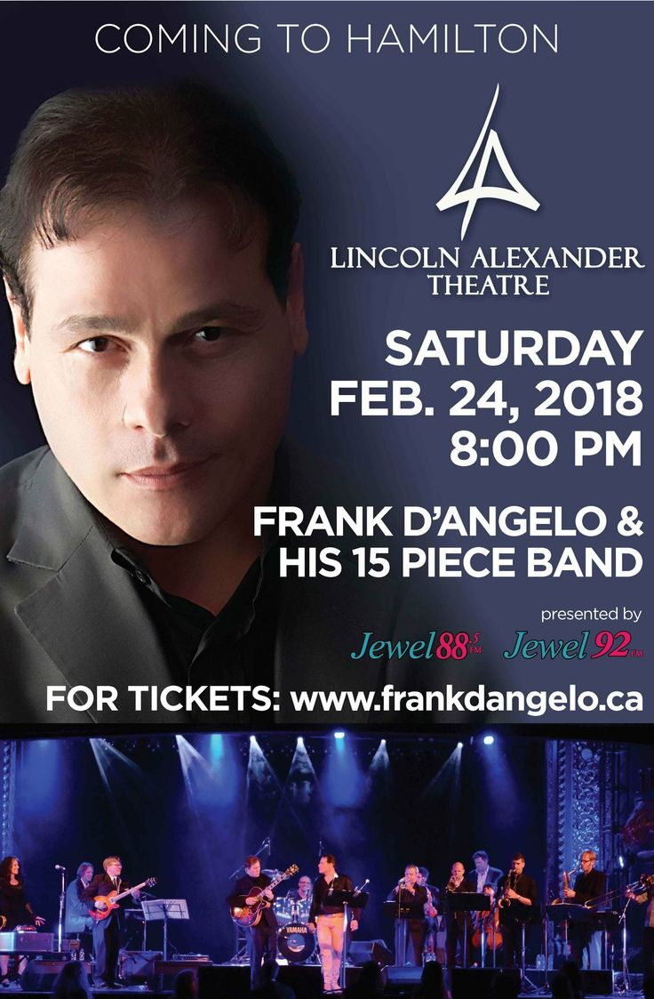 Looking forward to seeing you in Hamilton February 24th.  Please come hangout with me.  Cheers www.frankdangelo.ca