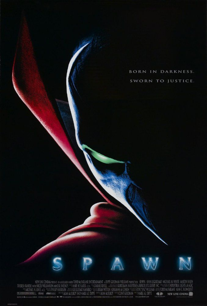 """""""Spawn"""" (1997) - Directed by Mark A.Z. Dippé. With John Leguizamo, Michael Jai White, Martin Sheen, Theresa Randle. An elite mercenary is killed, but comes back from Hell as a reluctant soldier of the Devil."""