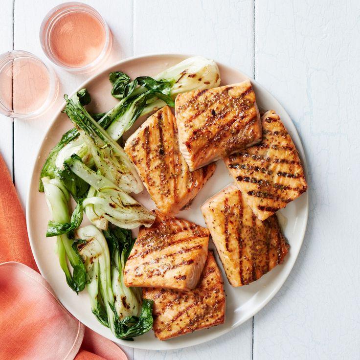 Honey-Mustard-Glazed Salmon Steaks   Food & Wine