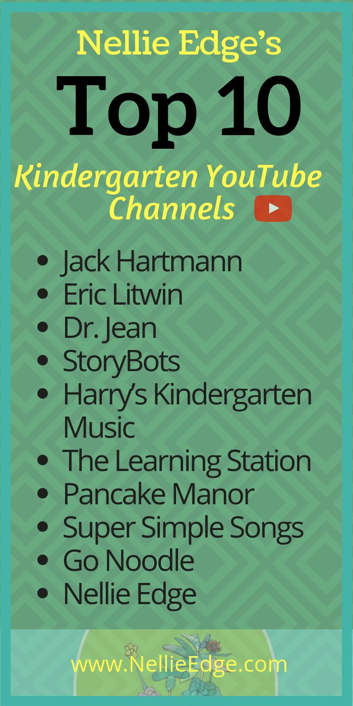Top Ten Kindergarten YouTube Channels – Hooboomoo